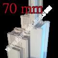 Stockverbreiterung für Oknoplast Prolux oder Platinium Farbe: weiss