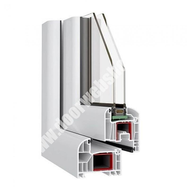 Fensterkonfigurator polen  Zweiflügel drehkipp/dreh Kunststoff Stulpfenster ohne Pfosten