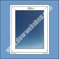 Kipp Flügel Kunststoff Fenster mit Isolierfüllung