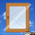 Dreh-Fügel Ug=0.6 W/m2K Holzfenster natur
