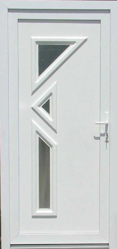 Haustüren weiß grau  Kunststoff Haustür Lagerverkauf